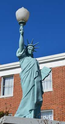 Statue of Liberty at the Fannin County Courthouse in Blue Ridge, GA