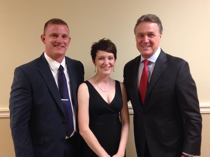 Chad and Amanda Galloway with Senator Perdue